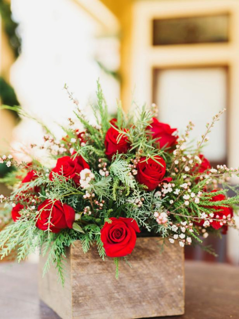 Red roses are always a classy choice. Source: HGTV