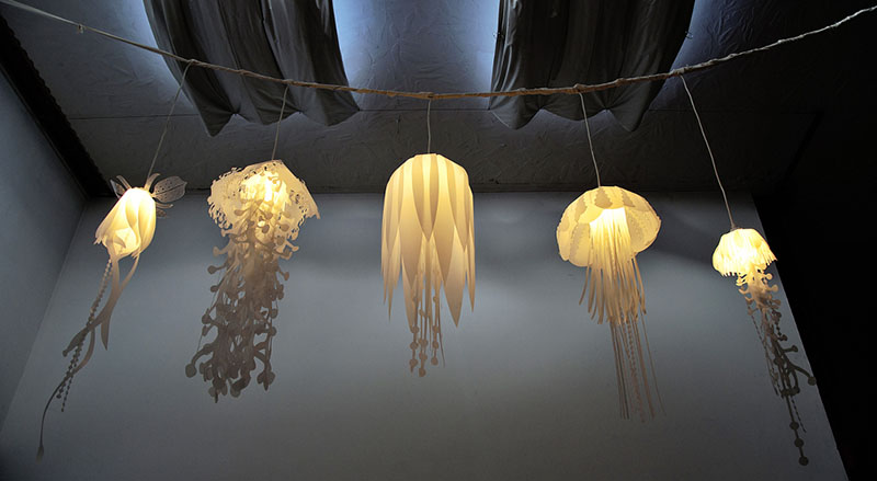 medusea collection of hanging lights