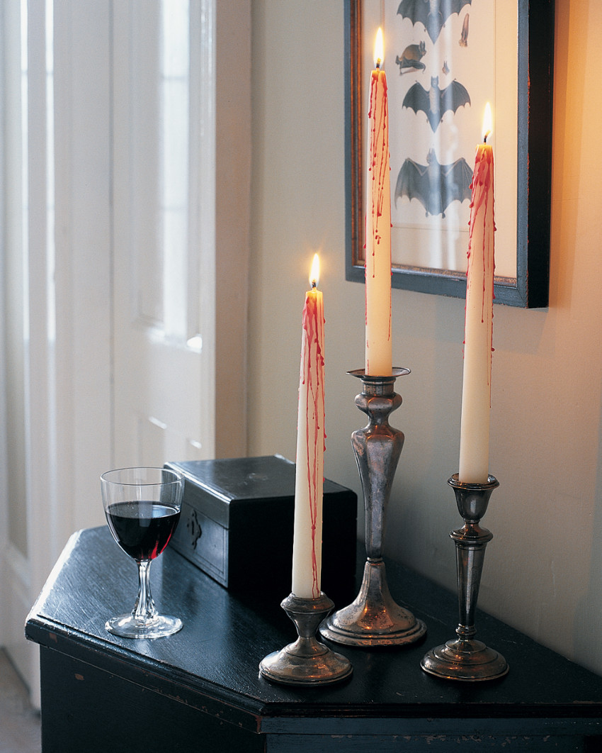 These candles can add a creepy look to any space. Source: Bobby Berk