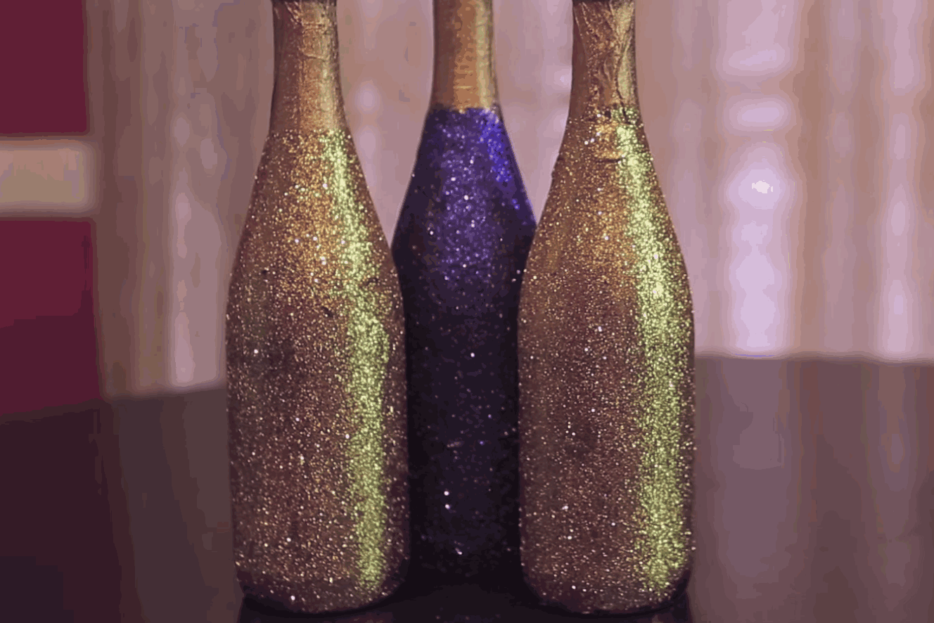 Glitter bottles just replaced your recycled bottles