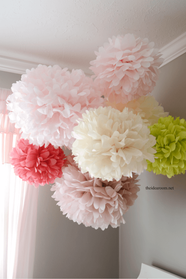 Pom-poms are a fluffy decor addition