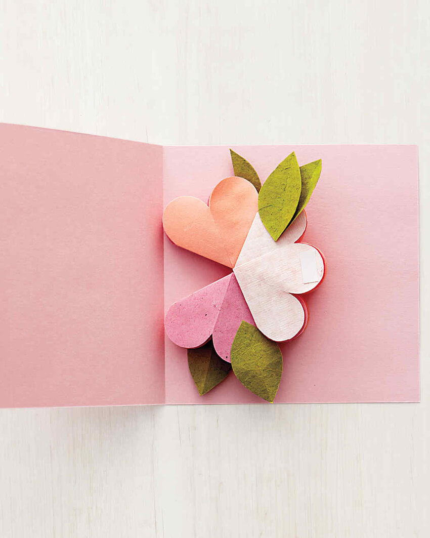 Make a pop-up flower card for your mom!