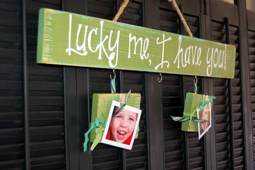 Show your appreciation of your loved ones with this DIY Lucky Me board!