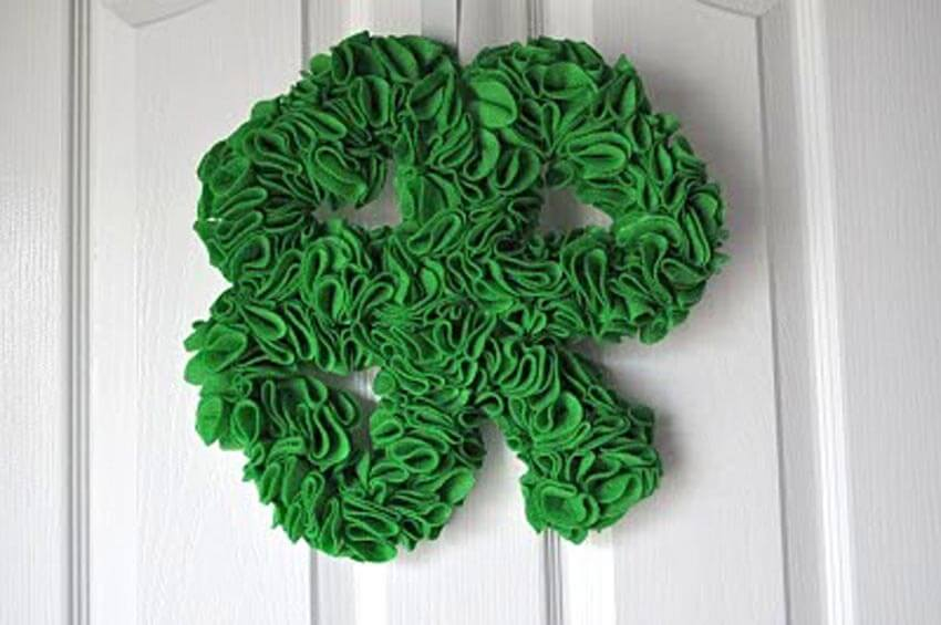 Add a cute shamrock wreath to your front door!