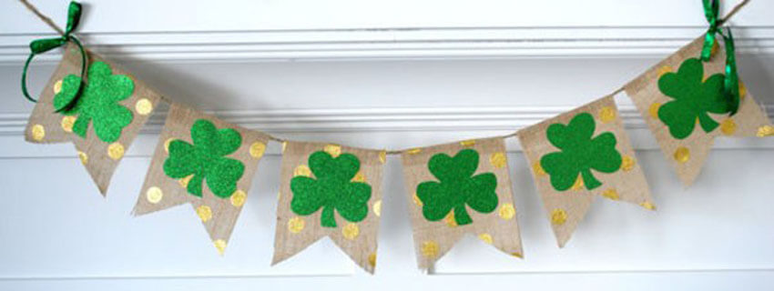 A cute St. Patrick's Day banner is perfect for your mantel.