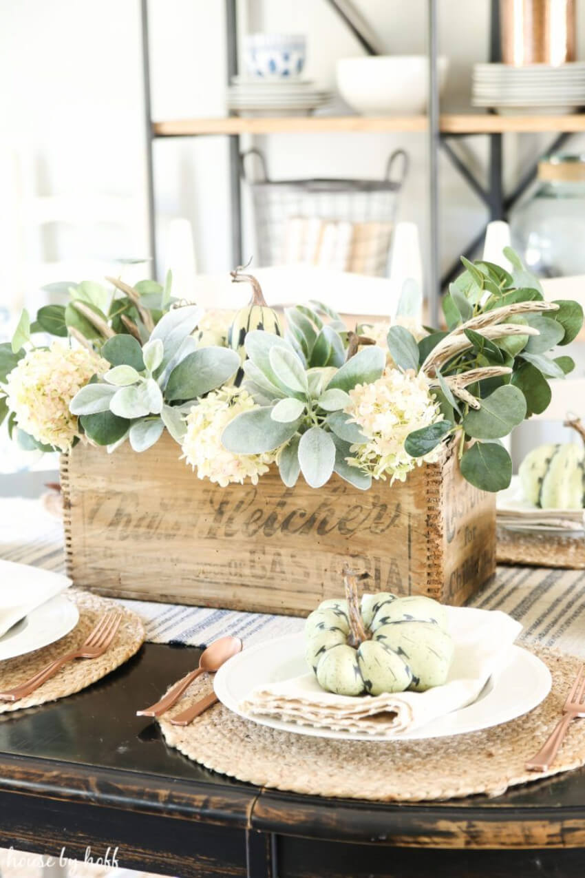 Add flowers and gourds for the best look. Source: House By Hoff