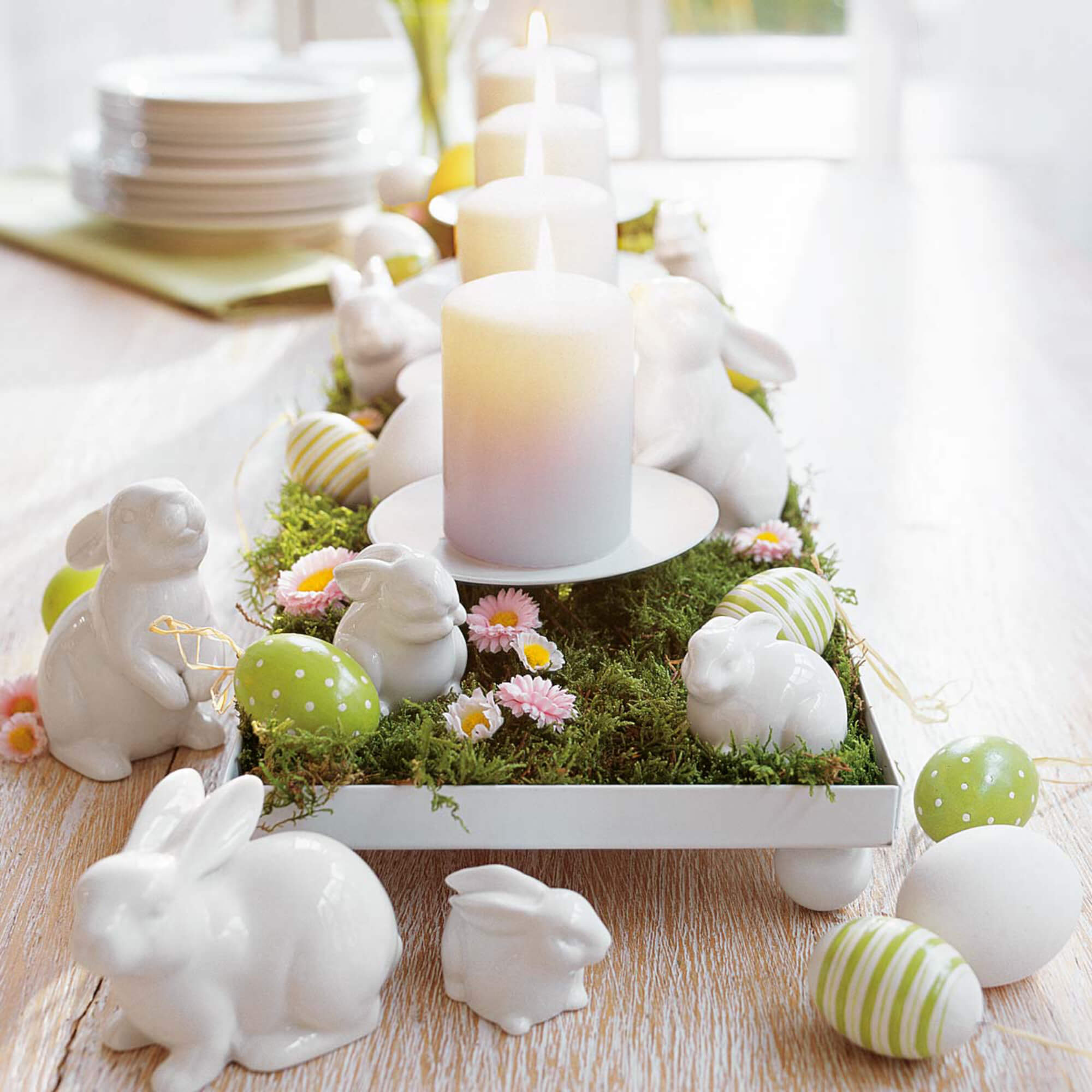 Beautiful and amazing holiday decor with bunnies and chickens