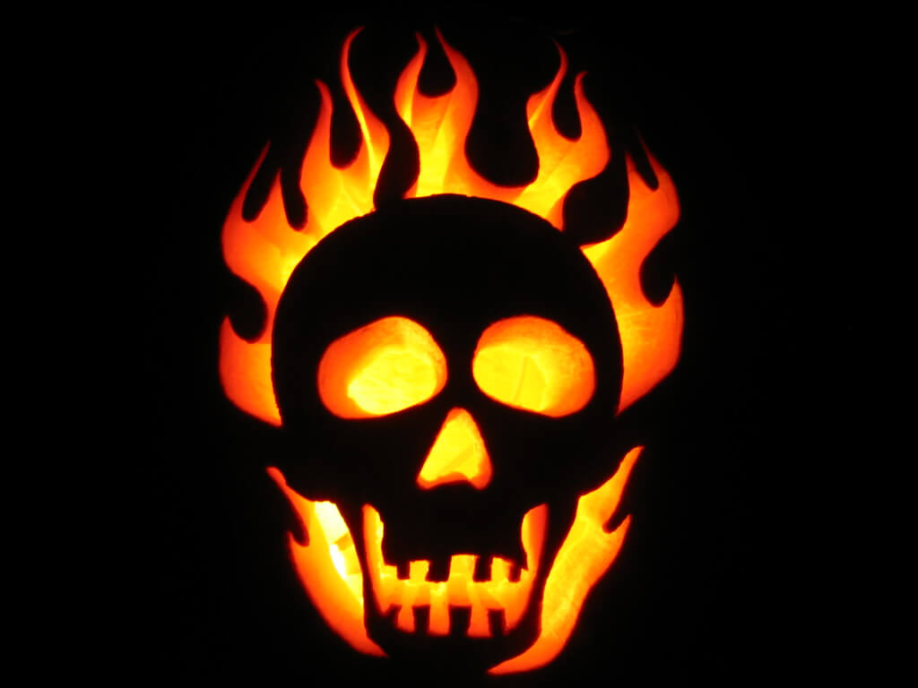 A pumpkin that ghost rider would be proud of