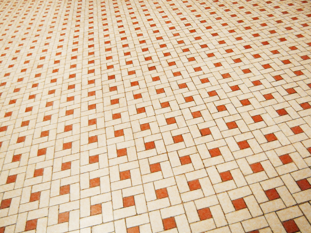 Ceramic tile flooring is durable and low-maintenance.