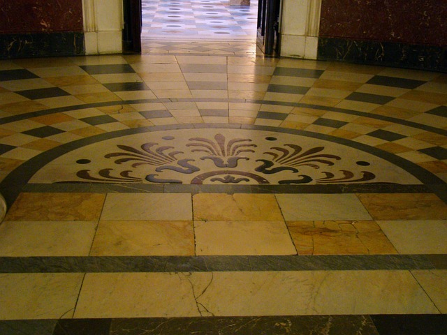 Marble tile flooring is elegant and iconic.