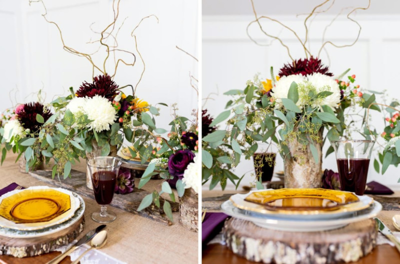 A rustic take on holiday decor. Source: HGTV