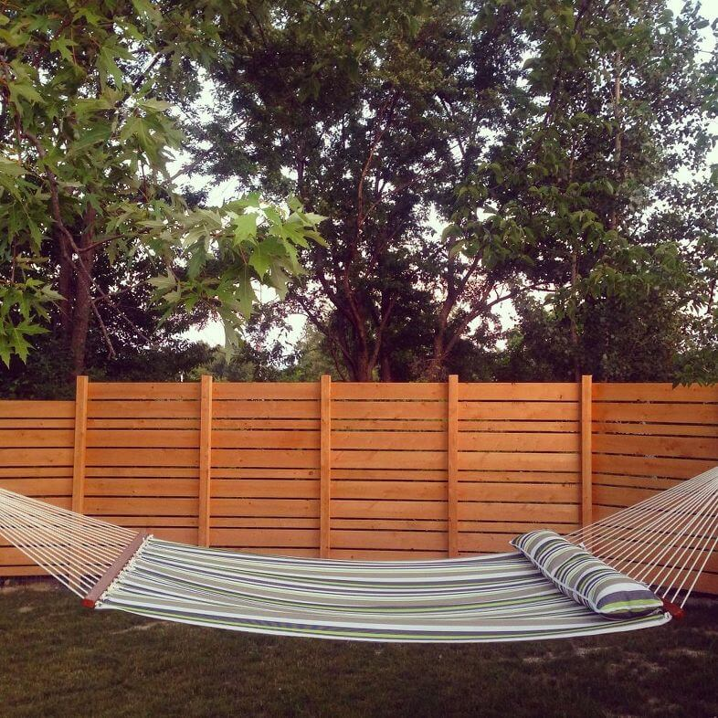 Relax in your own backyard in a hammock