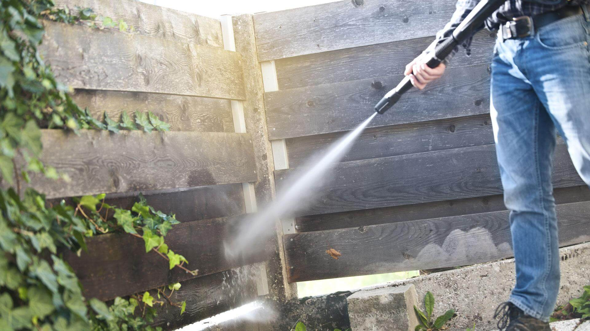 Power washing should only take place outdoors