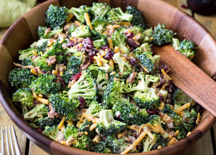 Broccoli salad with bacon is the perfect side dish!
