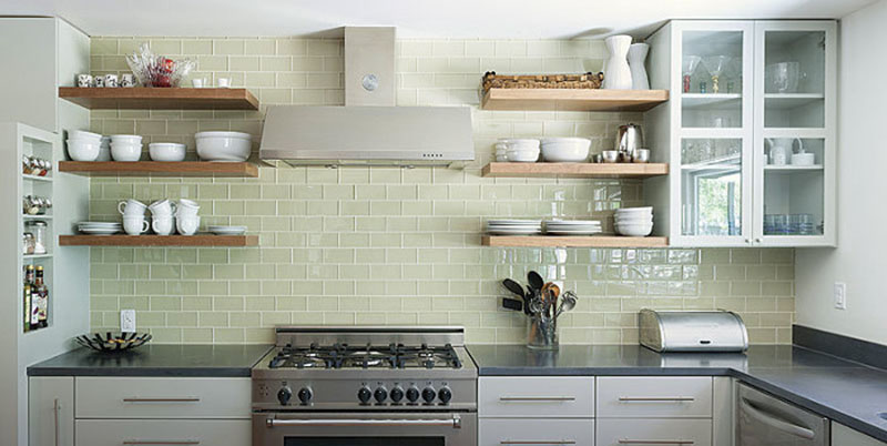 Open shelving is a trend that keeps on giving.
