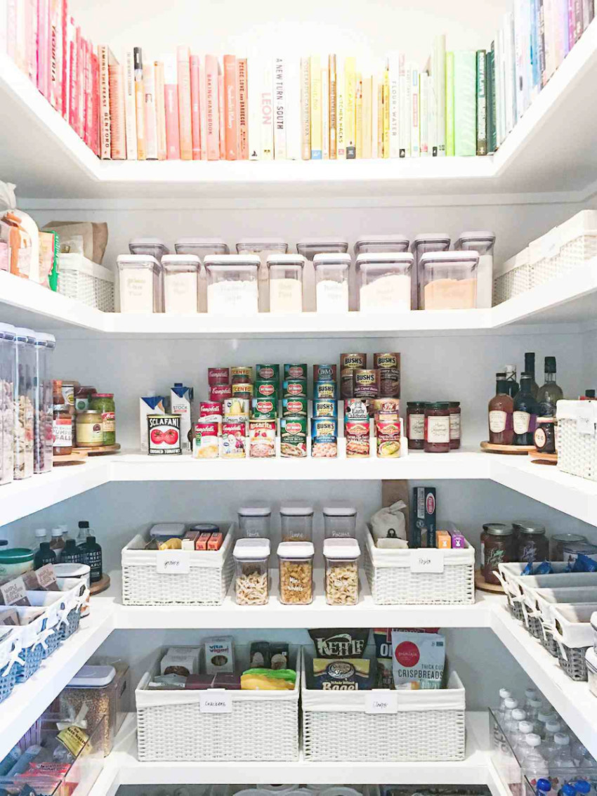 The pantry needs an efficient organization system. Source: My Domaine