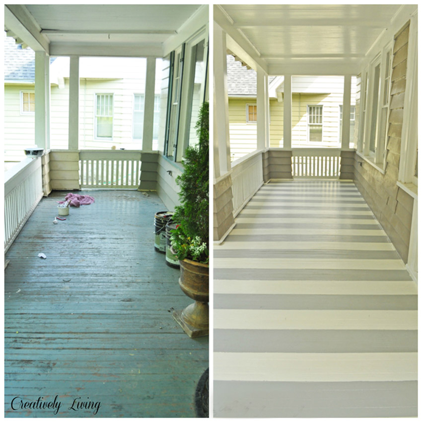 You can paint fun designs on your porch floor too!