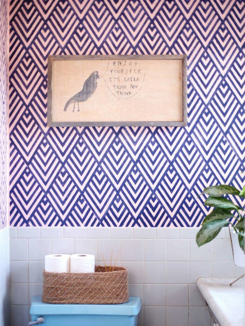 Even the bathroom can improve with this idea! Source: Bobvila