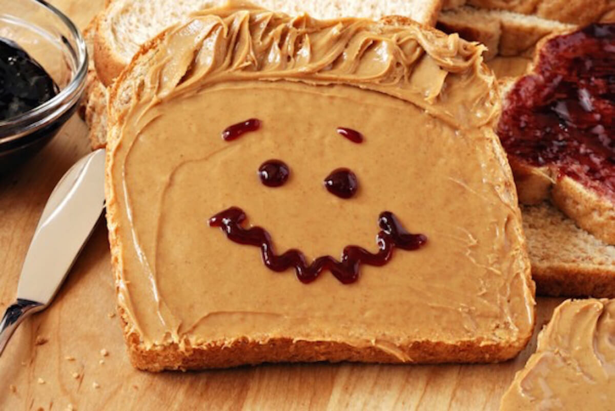 Smile! The childlike wonder of peanut butter and jelly