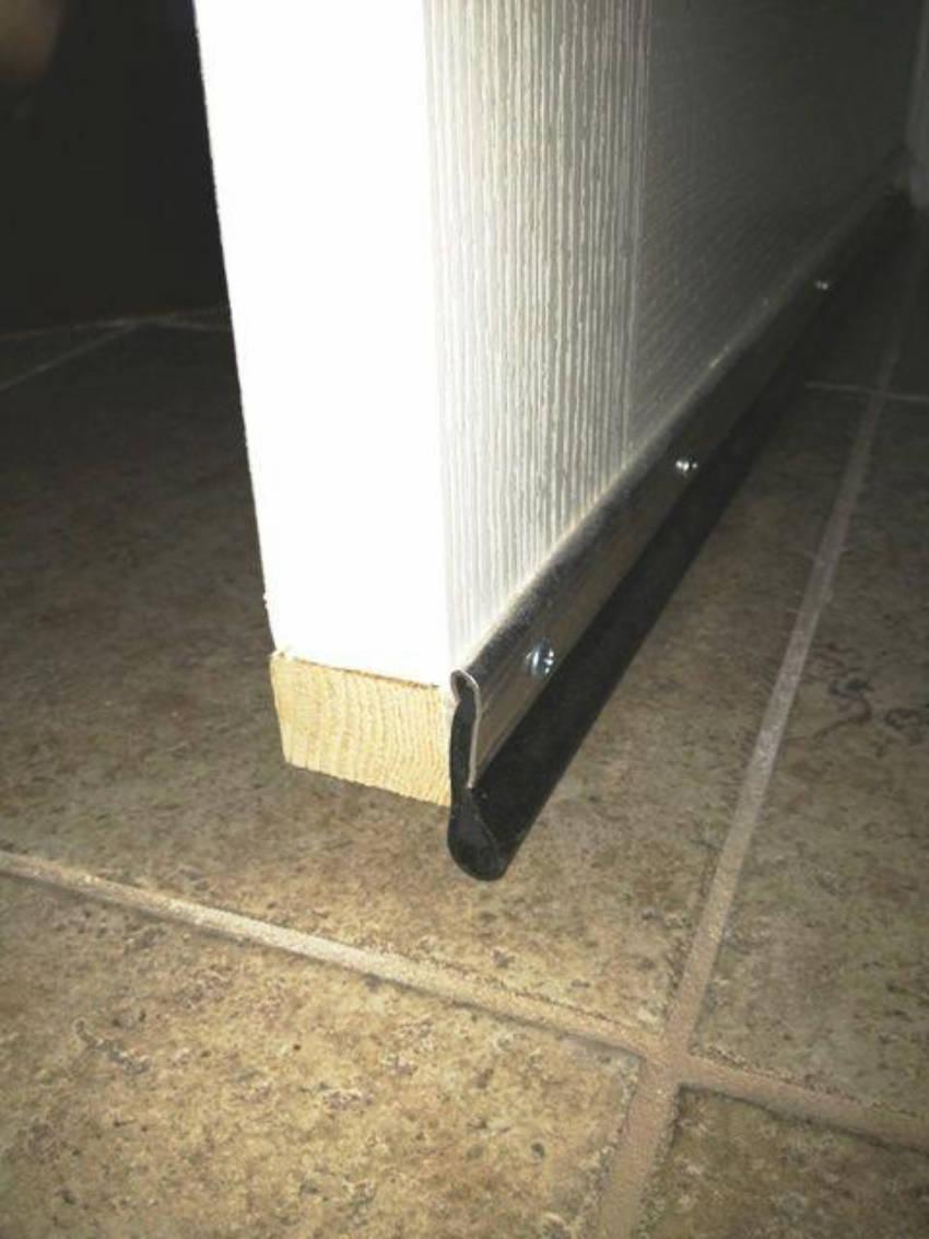 Having a door sweep prevents pests from crawling under your door.