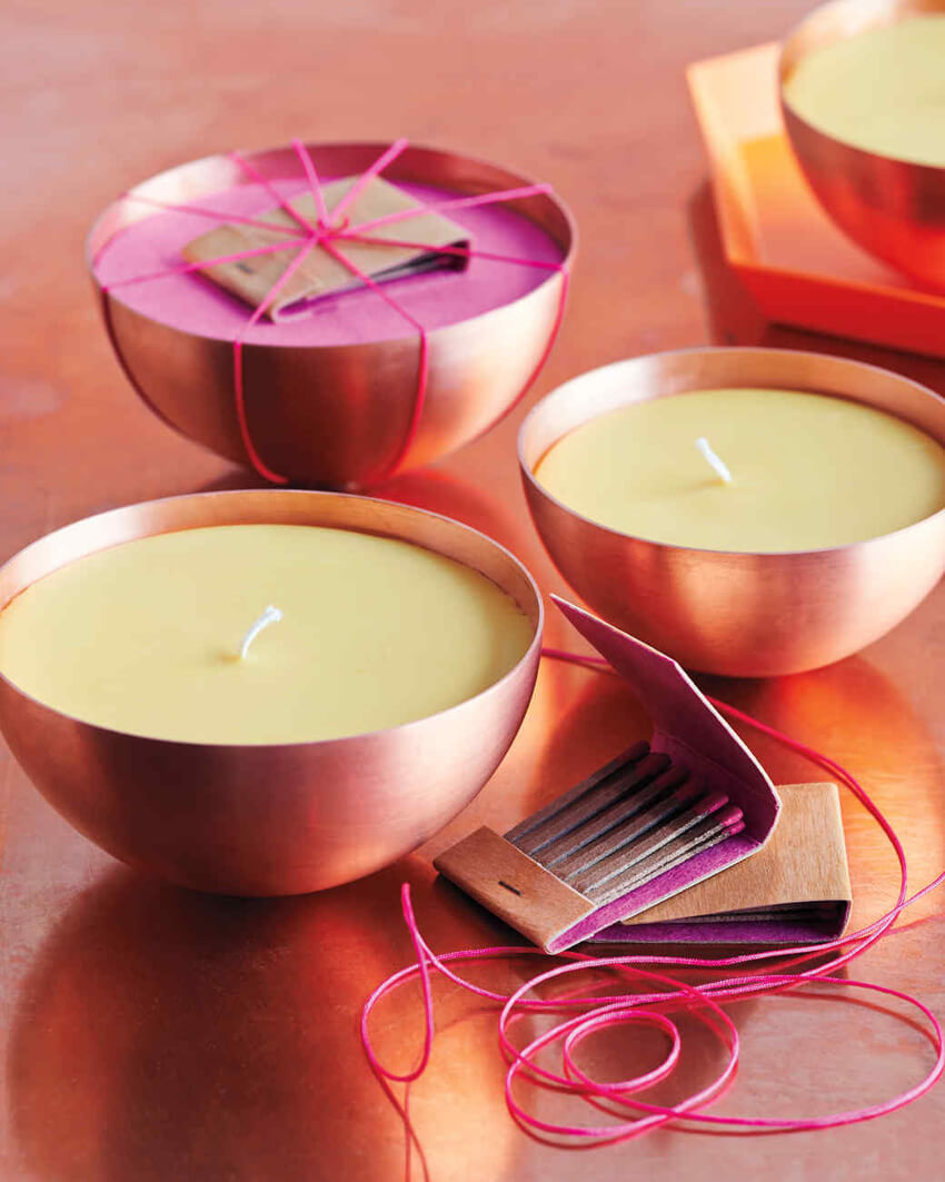 These DIY citrus candles are super easy to make!