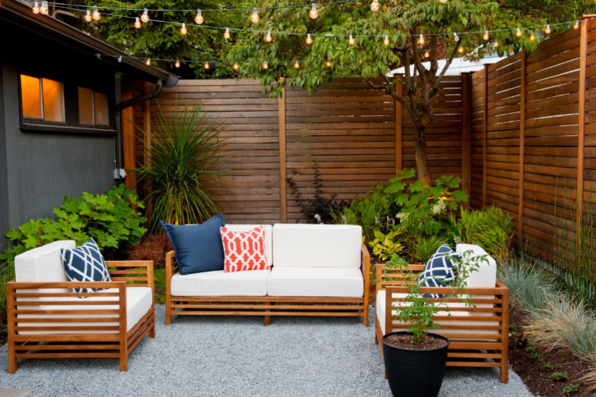 An effortless way to improve your patio. Source: HGTV