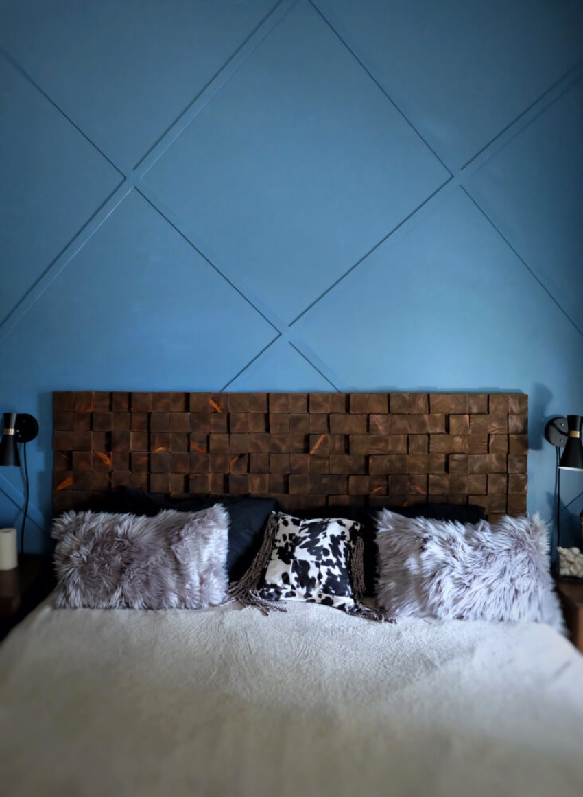 This accent wall can definitely make any bedroom more interesting. Source: Home BNC