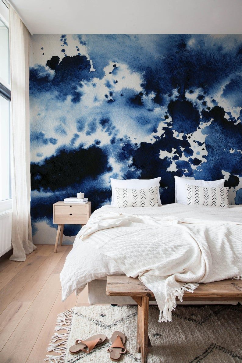 Peel and Stick Wallpaper is a quick way to change your bedroom's look! Source: Home BNC