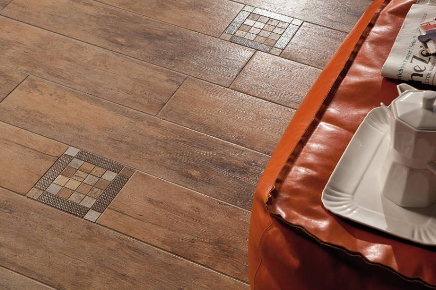 Porcelain tiles can replicate the look of wood or metal!