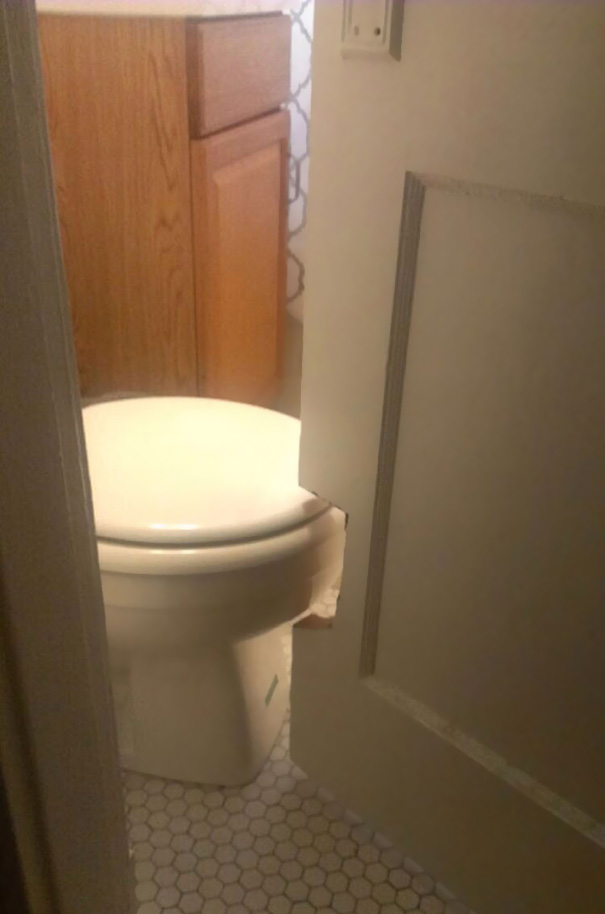 Well, that's one way to get around a bathroom remodel.