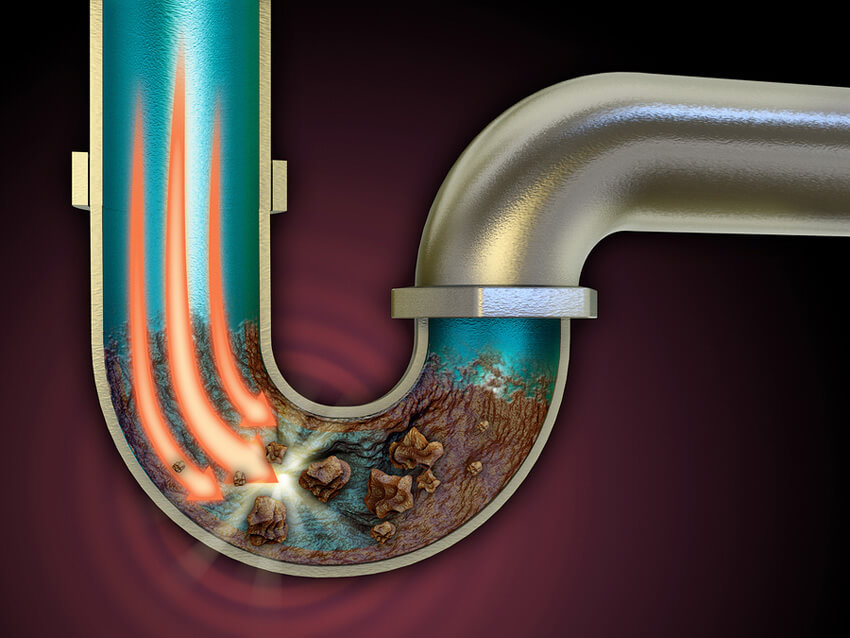 If your drain is really clogged, use chemicals, but be aware that some can damage your pipes.