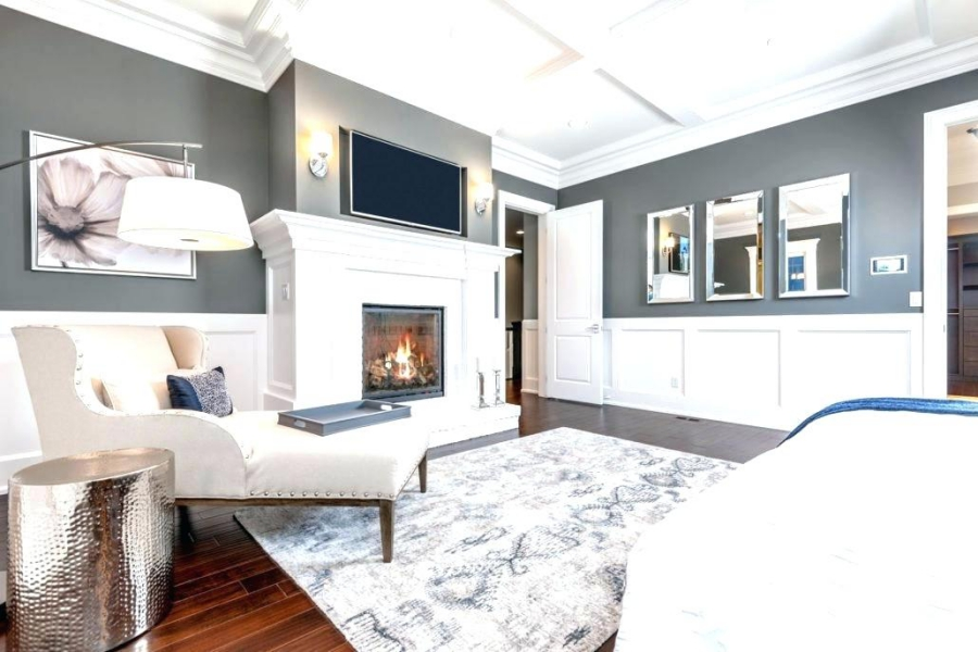 Fireplace with Wainscoting