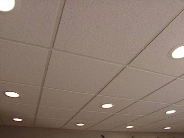 Ugly ceiling tiles got you down? Fear not!